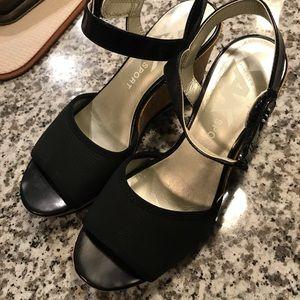Anne Klein Black Wedge Shoes
